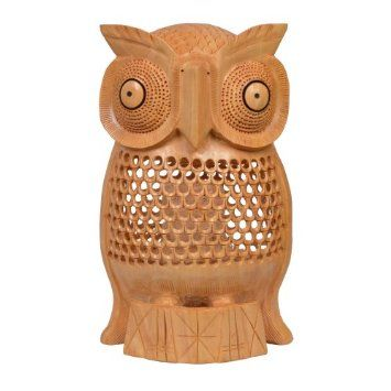 Amazon.com: Home Decor Ideas Hand Carved Wood Owl Bird Statues Figurines Art Sculpture .: Home & Kitchen