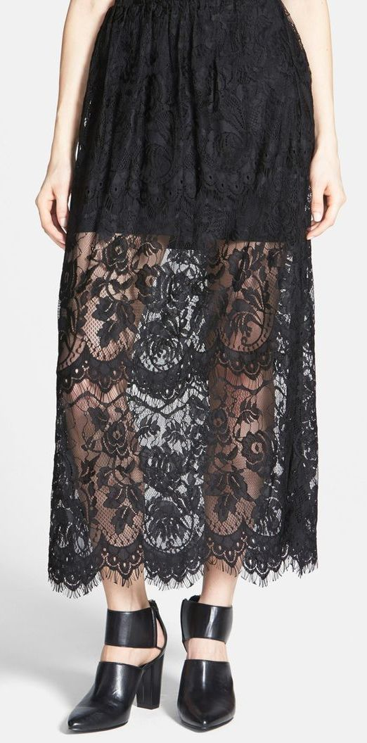 Knot Sisters 'Mia' Lace Maxi Skirt