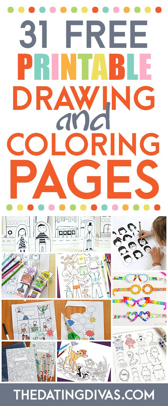 TONS of free coloring pages and drawing printables for kids. www.TheDatingDivas.com