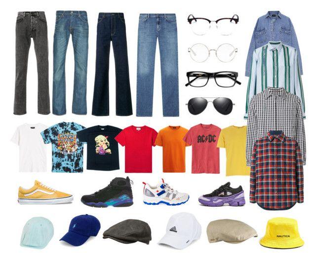 """2"" by pasanidi-konstantin on Polyvore featuring Edwin, Levi's, Calvin Klein 205W39NYC, Acne Studios, Yves Saint Laurent, Ray-Ban, 21 Men, Nick Graham, Crown Cap и Stetson"