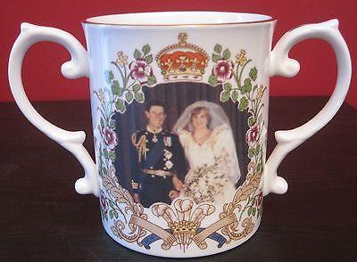 Princess Diana Prince Charles Wedding Attire Loving Cup Caverswall