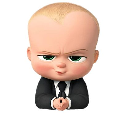 Free download - Boss Baby Angry Look transparent PNG image, clipart picture with no background - at the movies, cartoons, boss baby.