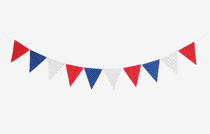 birthday wedding party bunting flags red blue white polka dot banner decorations party flag. Black Bedroom Furniture Sets. Home Design Ideas
