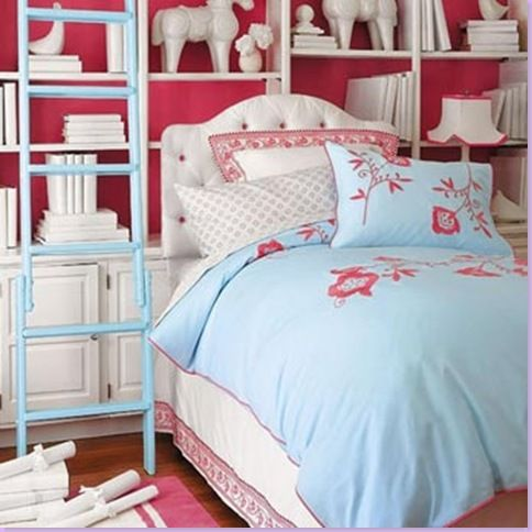 White Blue And Hot Pink For A Little S Room Pretty Close