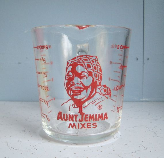Vintage Fire King Aunt Jemima Measuring Cup by RediscoveredRetro, $55.00