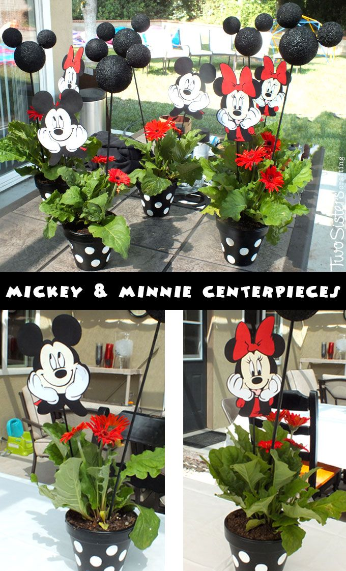 Mickey and minnie centerpieces mouse centerpiece