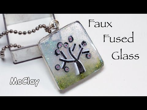 DIY Faux Fused Glass pendant. - YouTube