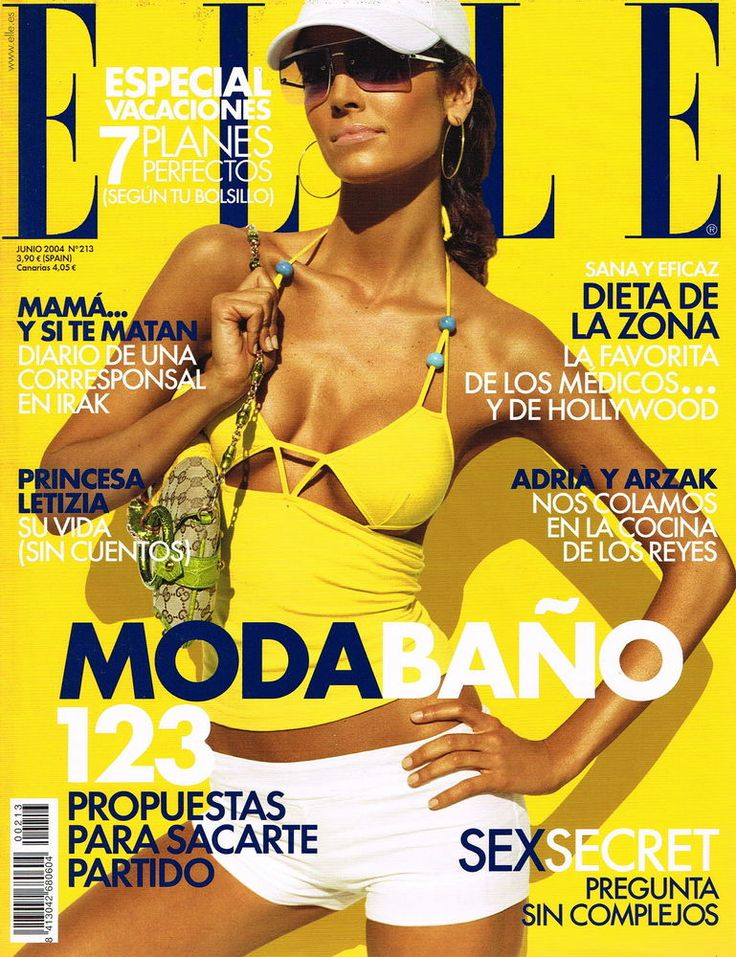 ELLE Spain June 2004 EUGENIA SILVA; MICHELLE ALVES; LEONARDO SBARAGLIA; AITANA