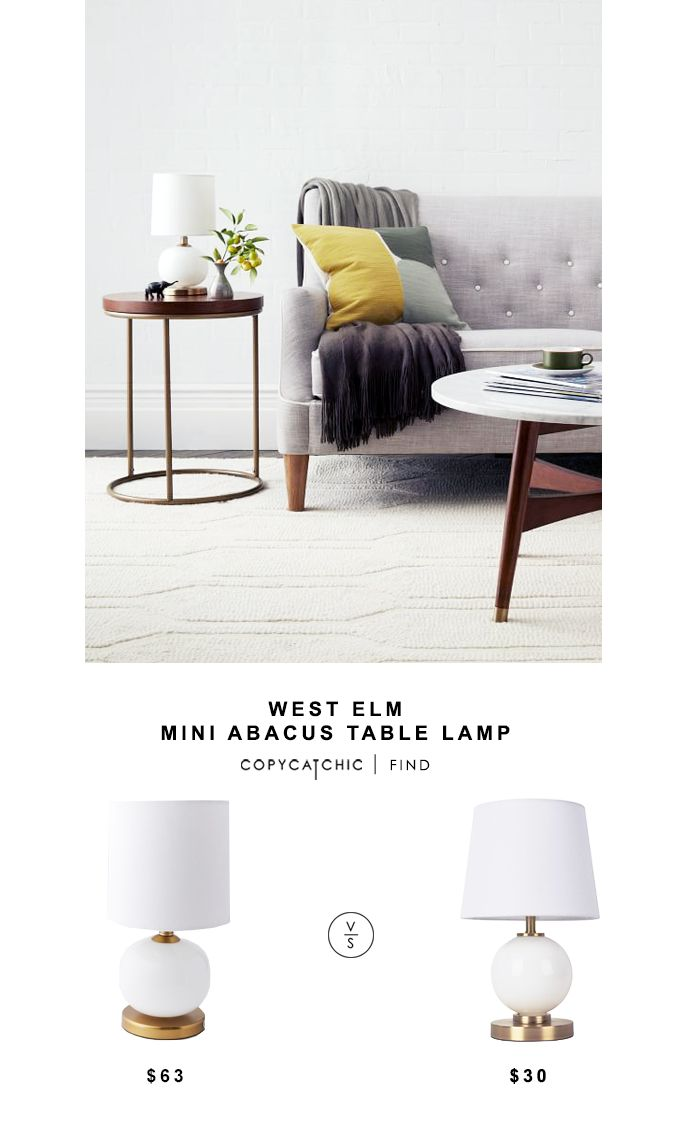 West Elm Mini Abacus Table Lamp for $63 vs Target Glass Ball Table Lamp for $30 @copycatchic look for less budget home decor design chic find http://www.copycatchic.com/2016/10/west-elm-mini-abacus-table-lamp.html?utm_campaign=coschedule&utm_source=pinterest&utm_medium=Copy%20Cat%20Chic&utm_content=West%20Elm%20Mini%20Abacus%20Table%20Lamp