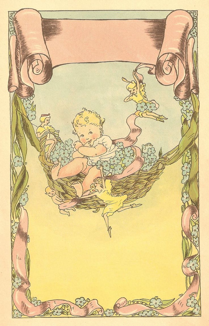 Vintage baby book illustration ~ Opening Illustration ~ Pg. 1 of 3, ca. 1915...so adorable.