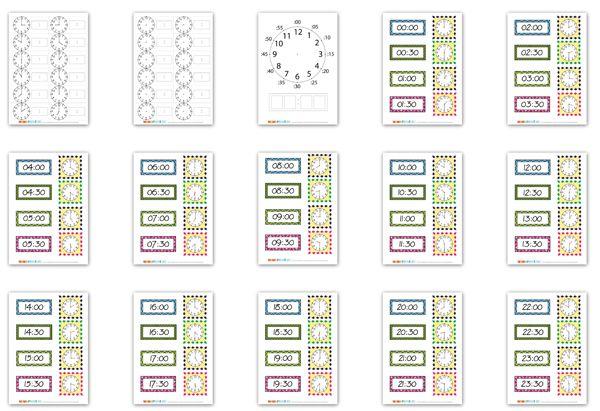 Две игры, карточки, заготовки для тестов, аппликация - всё что нужно, чтобы научиться определять время по часам! Особенно полезно воспитателям!