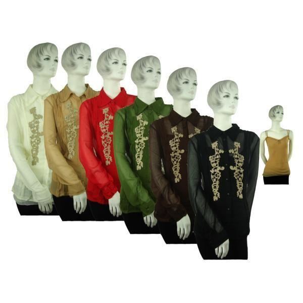 Women's Plus Size Dressy Tops (Case of 12)