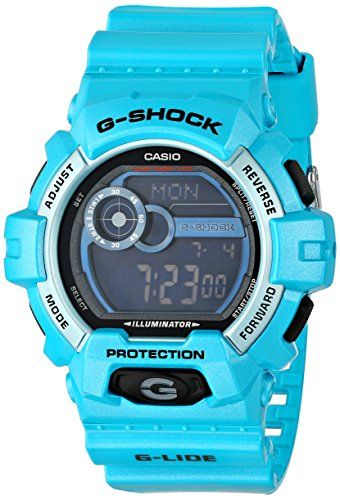 Men's Wrist Watches - Casio G Shock GLIDE Series Blue Resin Mens Watch GLS89002 >>> Read more at the image link.