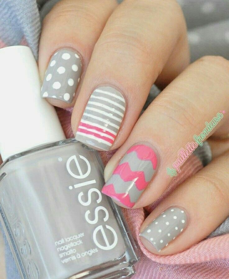 43 best uñas images on Pinterest | Nail design, Nail polish art and ...
