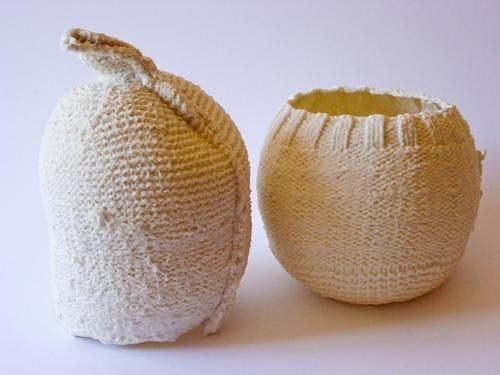 http://www.johnbauerart.com/art/knitted-porcelain/