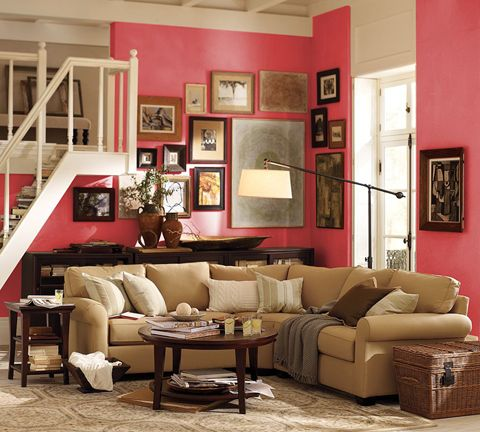 19 best images about color schemes on pinterest 2 story for Coral walls living room