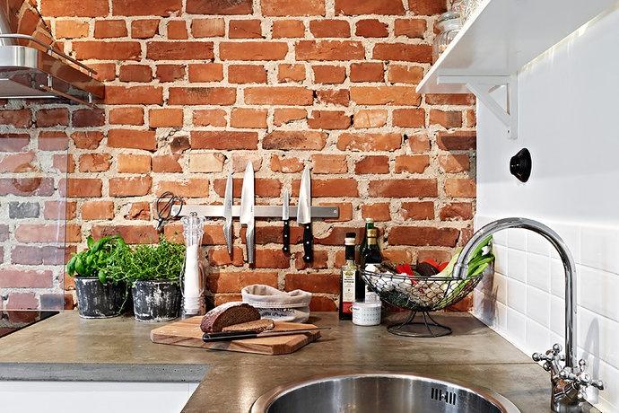 Kok Tegelvagg : kok med tegelvogg  Tegelvogg i kok Hus Pinterest Bricks, Back