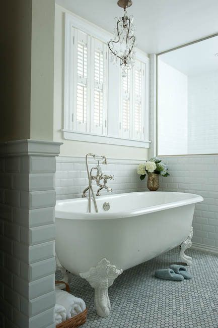 Decorating Bathroom with Clawfoot Tub | bathroom paint, yellow bathroom walls, clawfoot tub, vintage clawfoot ...