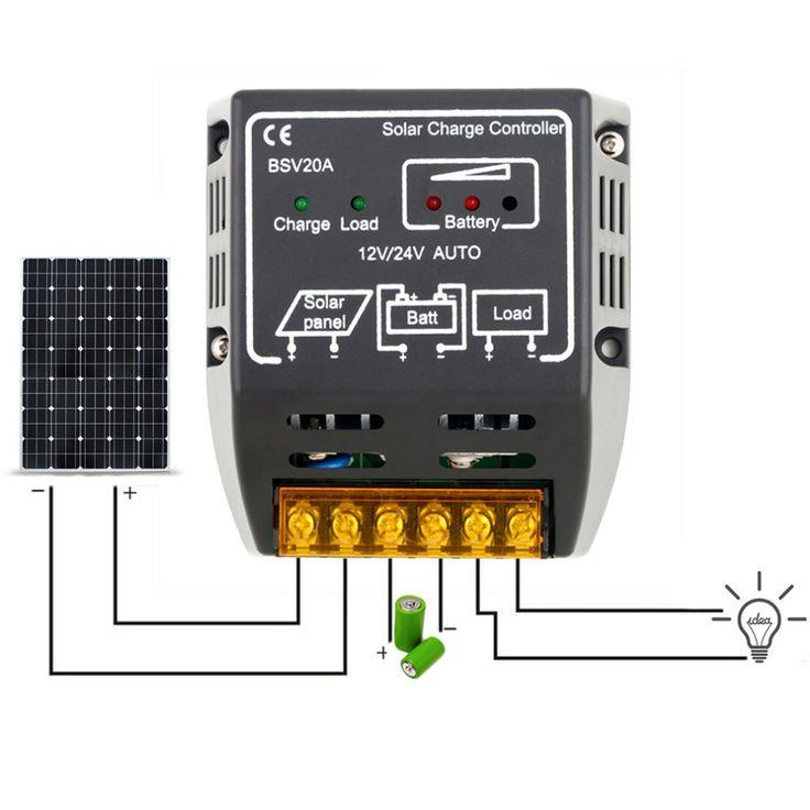 20A 12 V/24 V Zonnepaneel Laadregelaar Batterij Regulator Veilig Beschermen Solar Regulator Voor Zonnepaneel Systeem gebruik