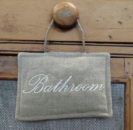 Doorhanger Linen Bathroom