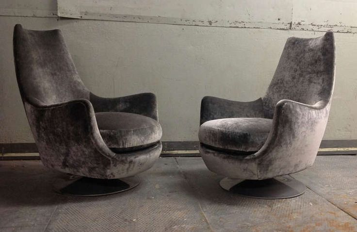 Milo Baughman, Highback Swivel Chairs, USA, circa 1970s image 3
