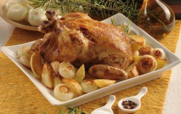 Κοτόπουλο γεμιστό με τυρί και πατάτες  - iCookGreek