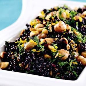 Nohutlu ve Portakal Sulu Siyah Pirinç Pilavı