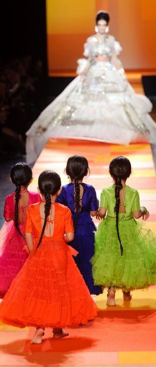 Jean Paul Gaultier Haute Couture Spring 2013 Dresses for Children