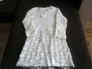 Alicjowe cudeńka: szydełkowa sukienka