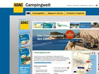 European Campsite portal in German.