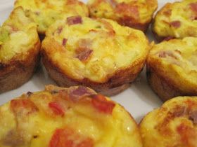 Mini Crustless Quiches - a Slimming World recipe