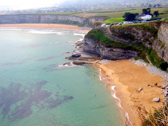 Playas de Langre desde los acantilados.