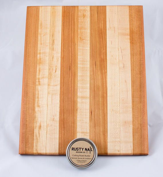 High Quality Elegant Cherry And Maple Cutting Board! Includes Cutting Board Butter.