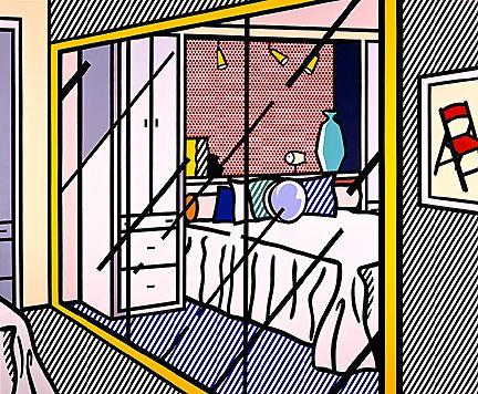 Roy Lichtenstein / Interior With Mirrored Closet, 1991
