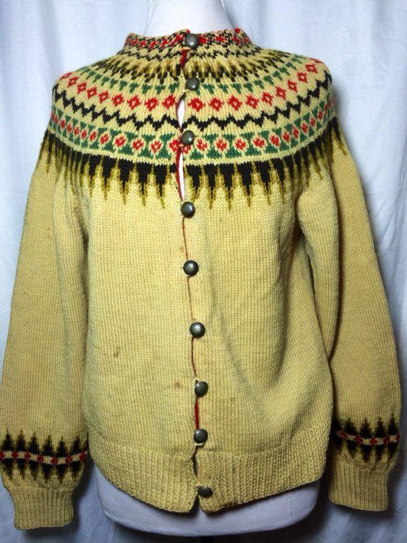 Vintage Wool Norway Sweater by MadVintageLA on Etsy