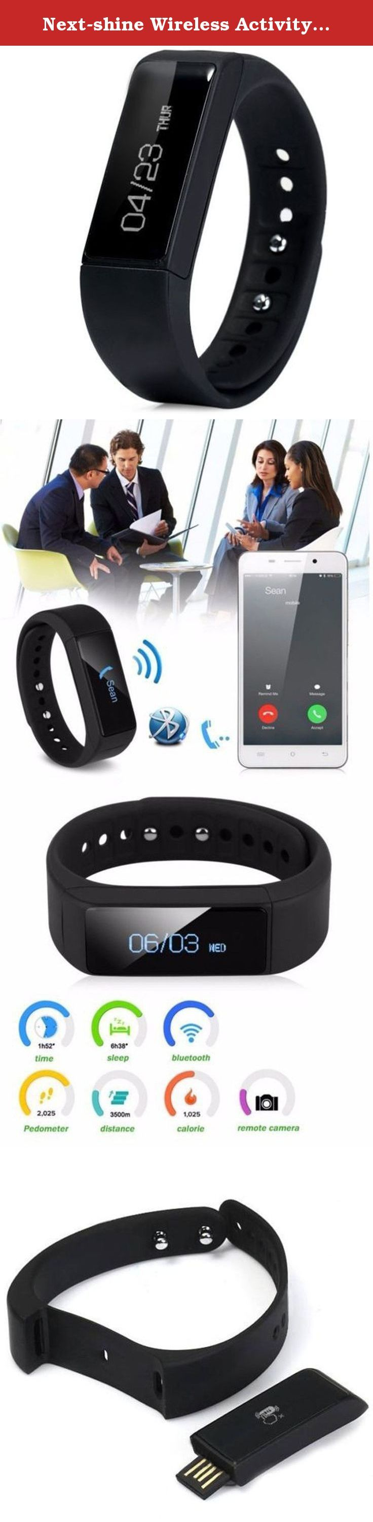Next-shine Wireless Activity Fitness Tracker Smart Band Wristband Sleep Monitor,Black. Next-shine fitness tracker Activity Partner When you wear the band to walk or sport,you can track your steps,distance,kalories to adjust your exercise. Sleep Monitor You can monitor the quality of your sleep to adjust your schedules. Call & SMS Notification Worry about missing any call or message? You can see the call ID when someone call you or get the content when receiving message.So,you would not…