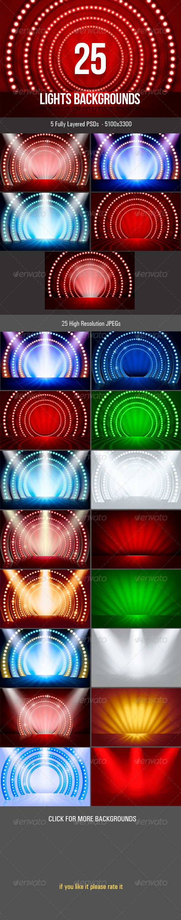 Lights Backgrounds  #dace background #web #display • Click here to download ! http://graphicriver.net/item/lights-backgrounds/3505539?ref=pxcr