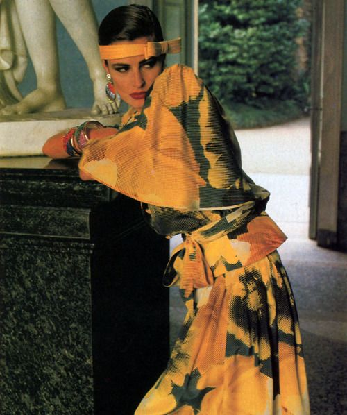Valentino Boutique, American Vogue, March 1984. Photograph by Helmut Newton.