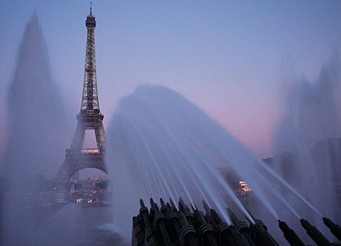 Paris! - Aimee and I stood and watched this fountain by the Eiffel Tower summer 2014.