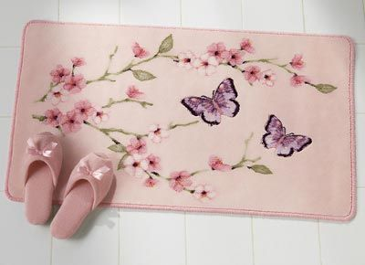 Perfect Cherry Blossom Butterflies Non Slip Bath Rug By Collections Etc Collections  New 999 Visit The Most Wished For In Bath Rugs List For Authoritative ...
