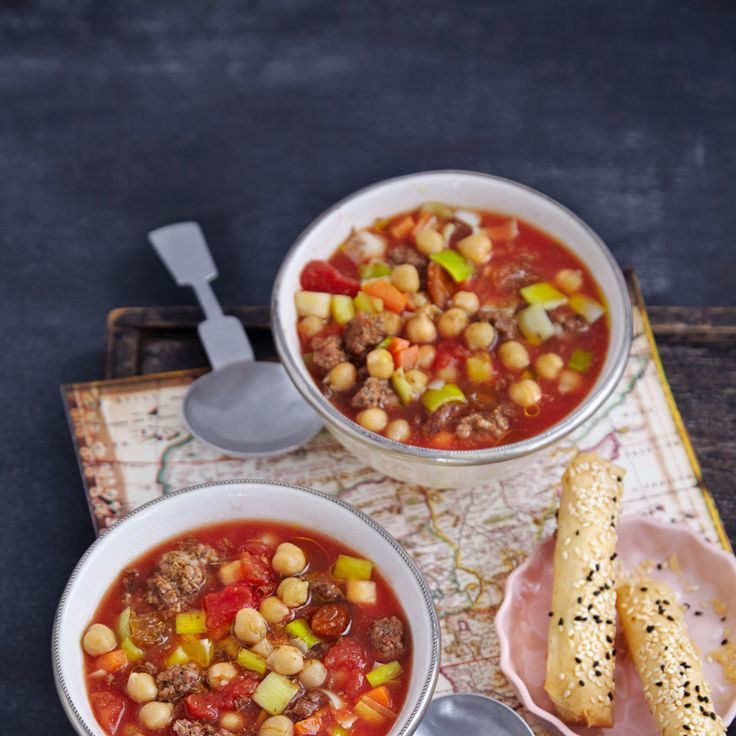 Rezept für Marokkanische Kichererbsensuppe | Küchengötter