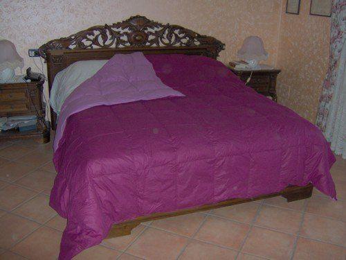 Sirge DB-WDF-V Quilt Double oie couette 260 x 260 cm DOUBLEFACE Violet / Rose: Quilt en duvet d'oie 300g / m rembourrage 100% duvet d'oie…