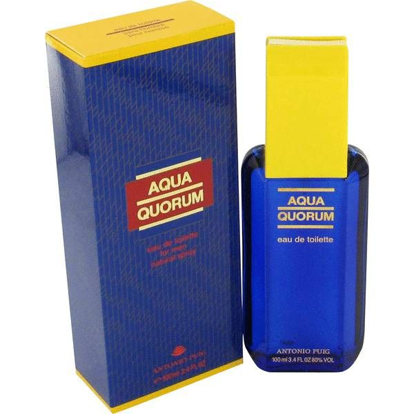 Launched by the design house of antonio puig in 1994, aqua quorum is classified as a refreshing, spicy, lavender, amber fragrance. This masculine scent possesses a blend of herbal top notes and lower notes of leather. It is recommended for daytime wea