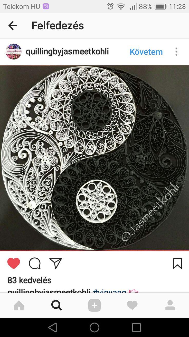 Mandala - ying-yang. Quilling