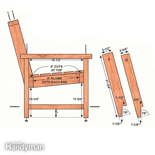 Perfect Patio Combo: Wooden Bench Plans With Built-in End Table | The Family Handyman
