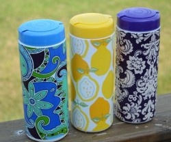 Make an Embellished Grocery Bag Container!! {great item to keep in your car}