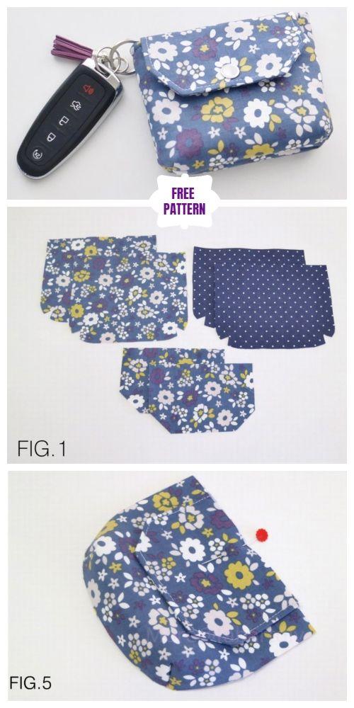 DIY Flappy Coin Purse Sew Free Pattern & Tutorial | bolsos ...