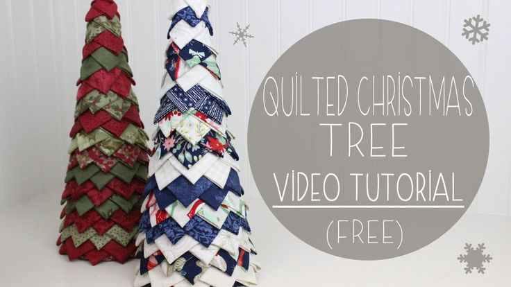 No Sew Quilted Christmas Tree, tutorial, free, pattern, easy beginner craft, DIY, do it yourself, video tutorial, YouTube