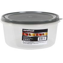 Bulk Sure Fresh Professional Round Plastic Containers with Lids, 87.7 oz. at DollarTree.com