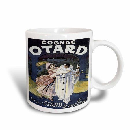 3dRose Vintage Otard Cognac French Advertising Poster, Ceramic Mug, 15-ounce